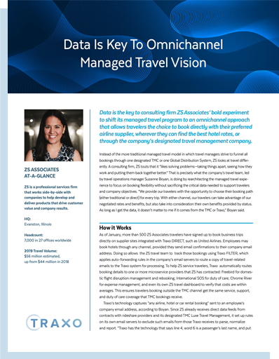 Data Is Key To Omnichannel Managed Travel Vision - Customer Story Downloadable Cover