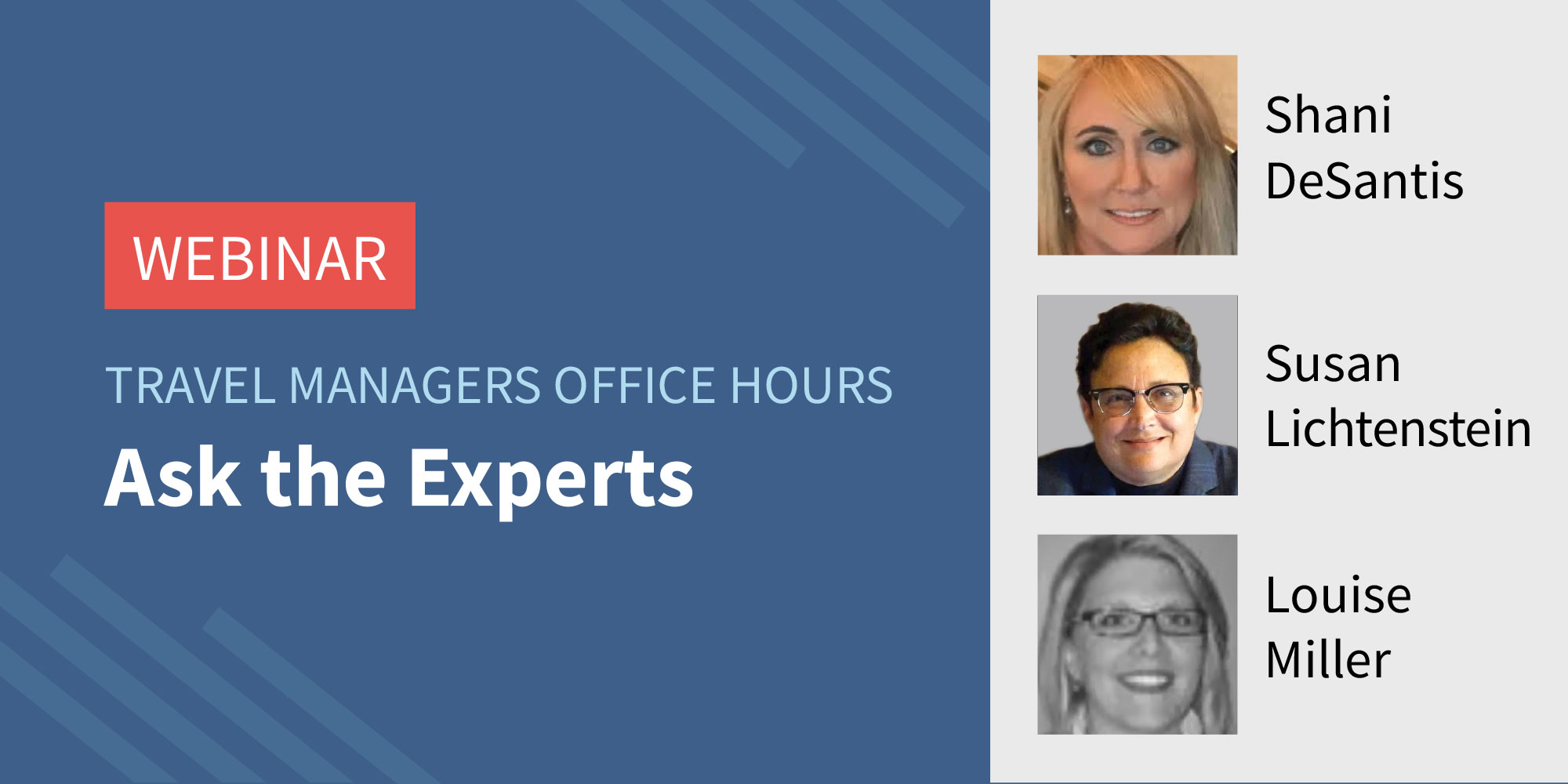 Traxo Travel Managers Office Hours Webinar Ask the Experts Featured Image