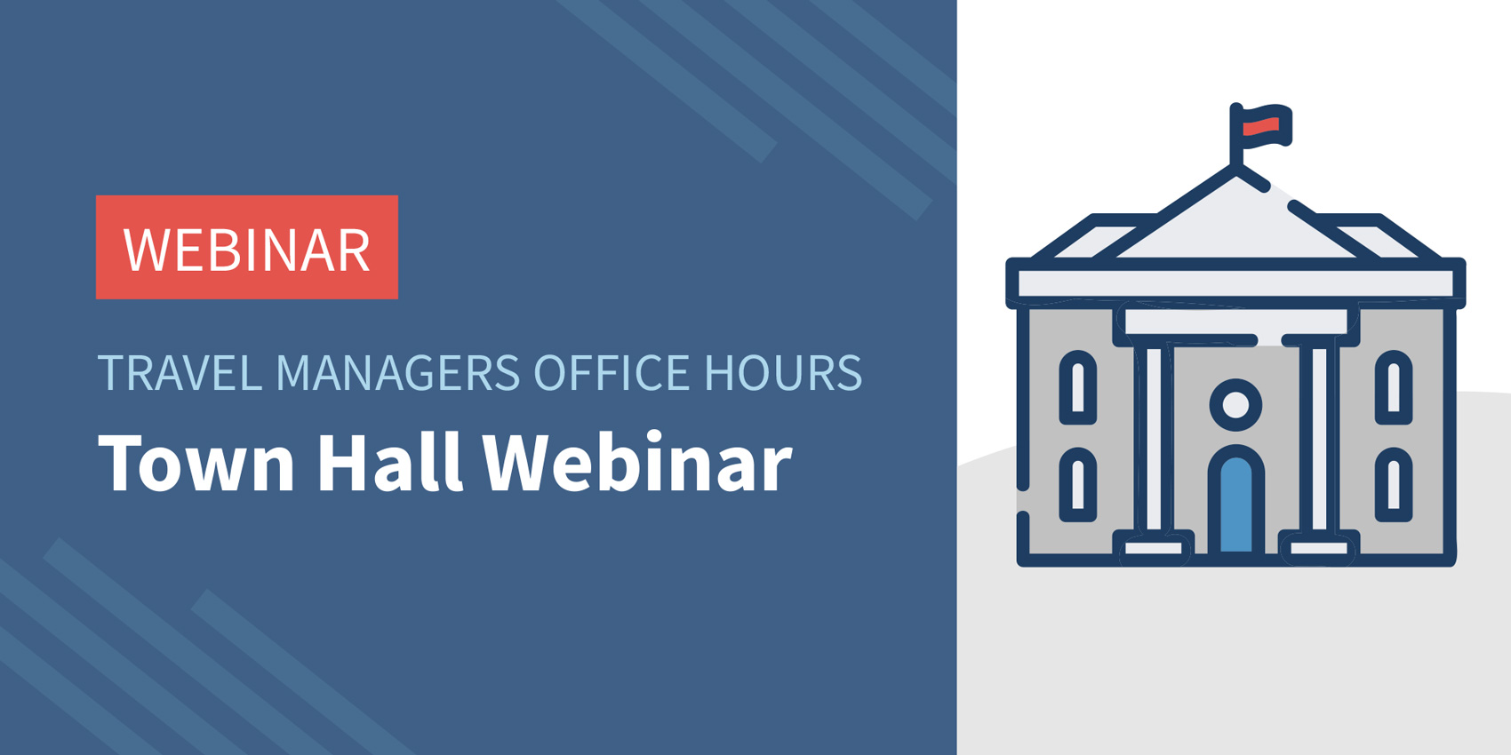 Traxo Town Hall Webinar Title and Building Illustration
