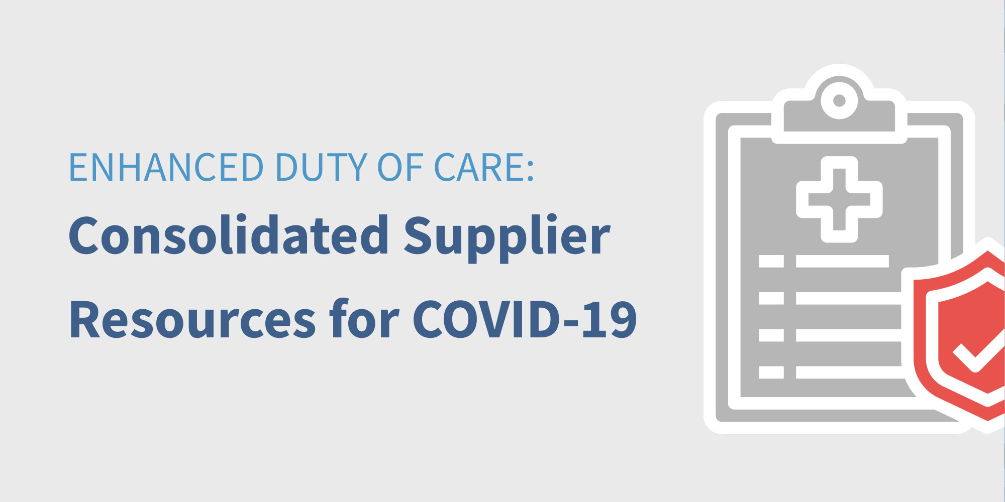 Consolidated Supplier Resources for Duty of Care Featured Image