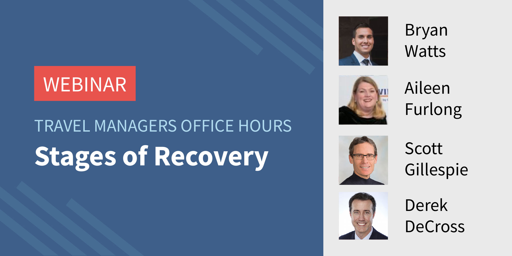 Traxo Travel Managers Office Hours Webinar Stages of Recovery Featured Image